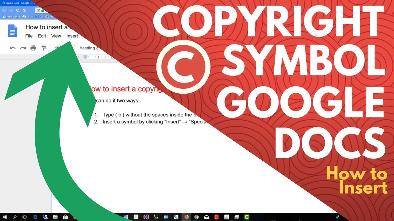 Google Docs Copyright Symbol How To Insert Youtube