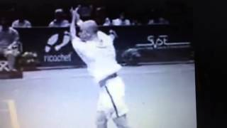 agassi slow motion two handed backhand with recovery step a