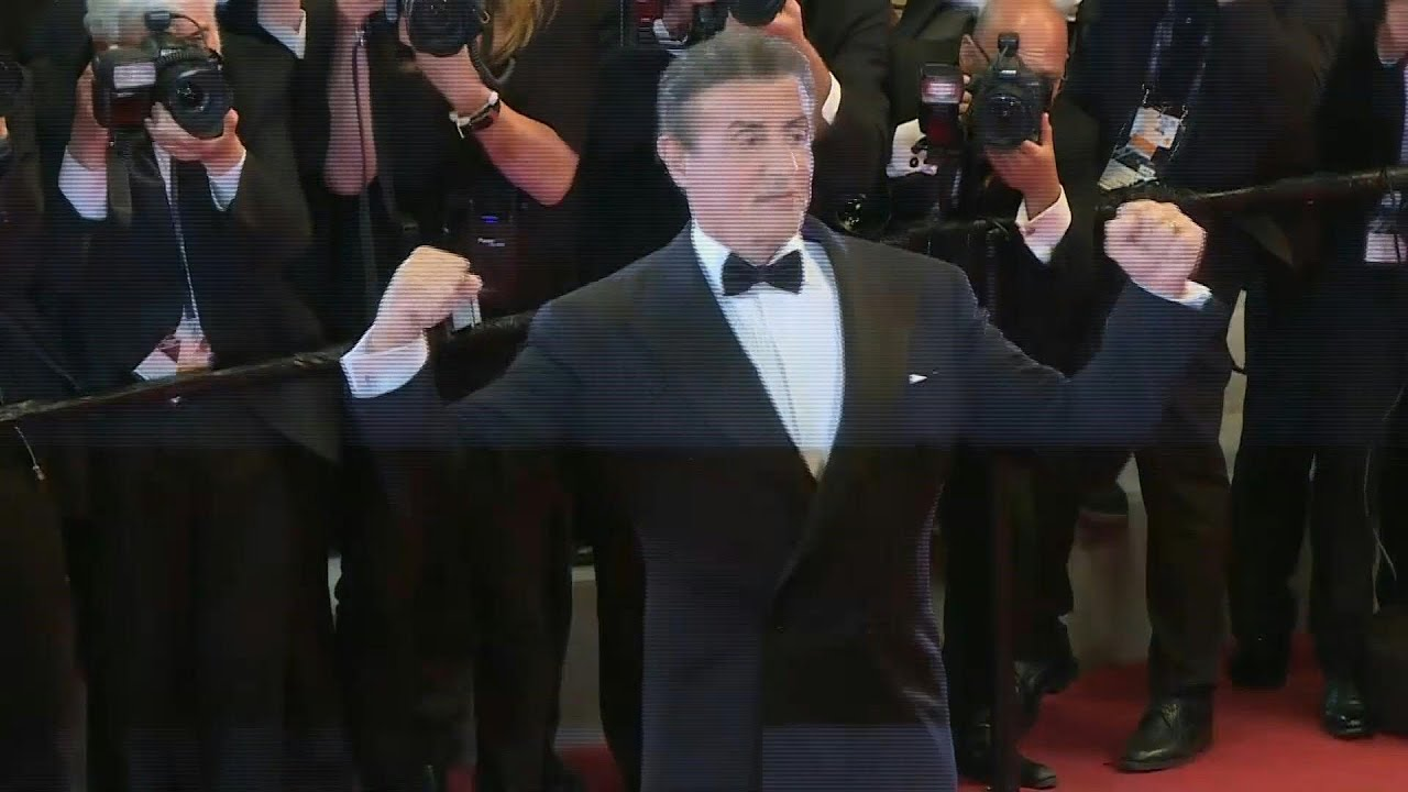 Sylvester Stallone on the red carpet of Cannes for 'First ...