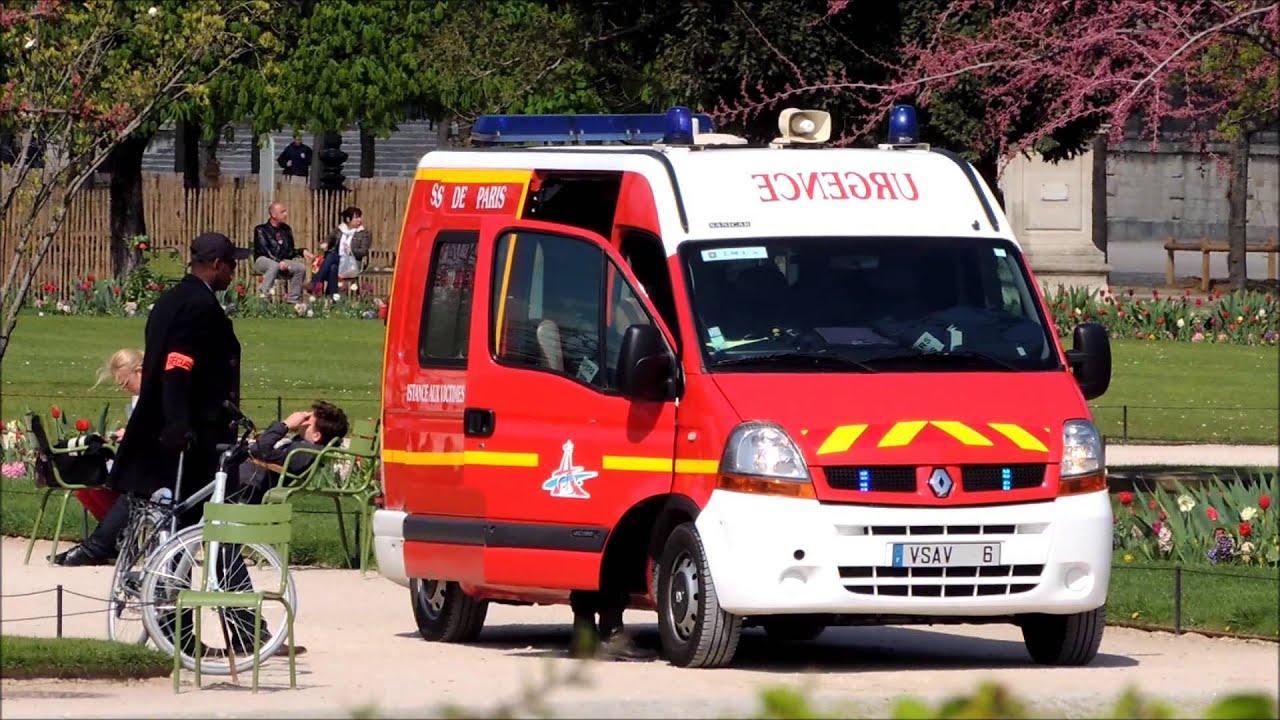 ambulance sapeurs pompiers paris vsav 6 youtube. Black Bedroom Furniture Sets. Home Design Ideas