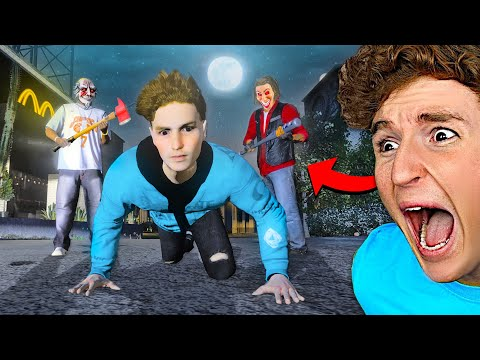 Survive The PURGE Challenge In GTA 5.. (TERRIFYING)