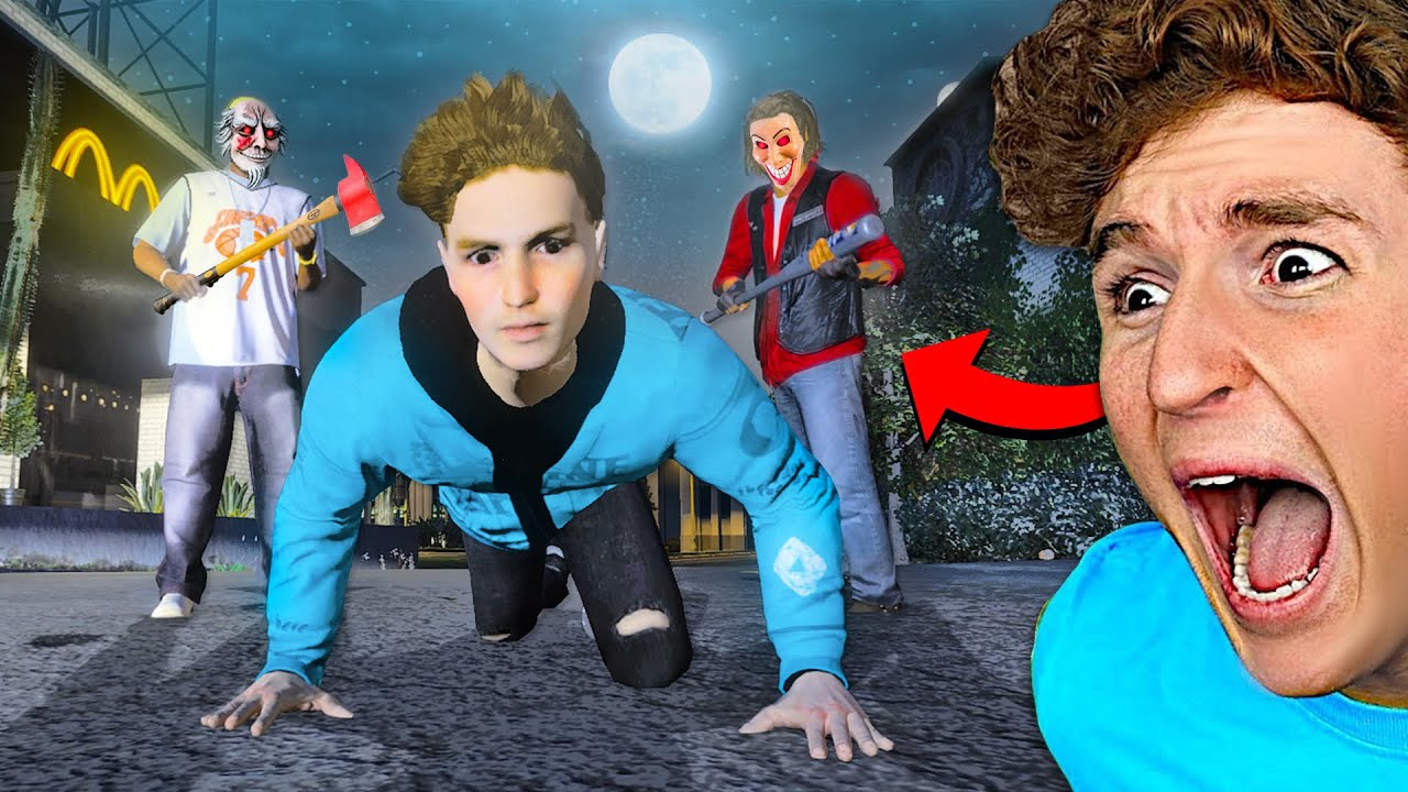 Survive The PURGE Challenge In GTA 5.. (TERRIFYING) thumbnail