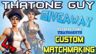 FORTNITE CUSTOM MATCHMAKING | GIFTING A SKIN | 1K VBUCK GIVEAWAY | CUSTOM SCRIMS | #fortnite