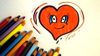 Простой подарок валентинка на 14 февраля - сердечко. Как нарисовать валентинку(Поэтапное рисование сердце на 14 февраля. Рисуем валентинку Другие видео на канале https://www.youtube.com/channel/UCqy7--XK7XV6f..., 2017-02-02T18:03:19.000Z)