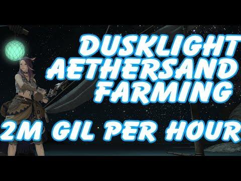 FFXIV Gil Making EP16 - Dusklight Aethersand Fishing! 2M+ per hour!