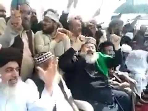 Barelvi Molvi dancing during a protest rally !
