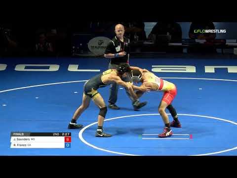 Cadet FS 126 Finals - Joshua Saunders (MO) vs. Ryan Franco (CA)