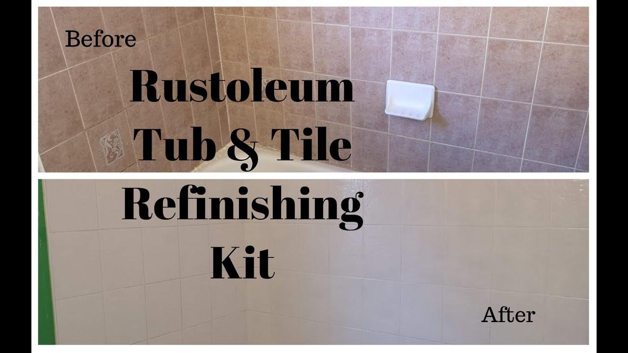 rustoleum tub tile refinishing kit review bathroom makeover series pt 1