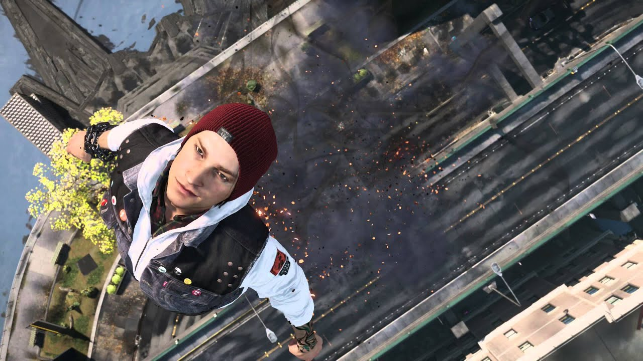 infamous second son free roam with origami clothing