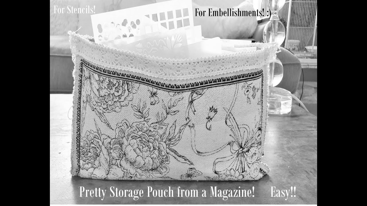 How to Make Easy Storage Pouches Out of Magazines! Cool Junk Journal Supply Storage! Paper Outpost!