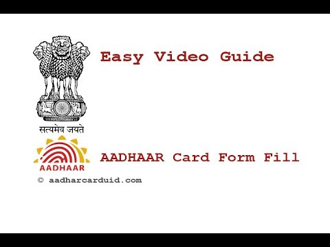 How To Fill Aadhaar Card Application Form - Youtube