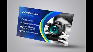 Business card design in corel draw | Professional visiting card design hindi online