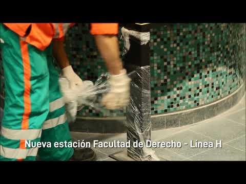 """<h3 class=""""list-group-item-title"""">Nueva estación Facultad de Derecho - Línea H</h3>"""