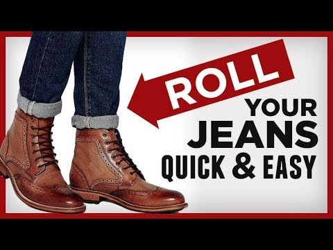 How To Roll Stack & Cuff Your Jeans | QUICK & Easy Denim Stacking For Men | RMRS Fashion Video