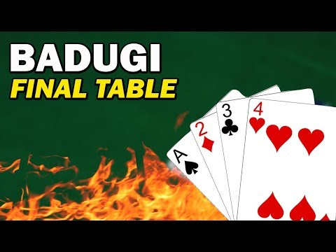 Badugi Final Table