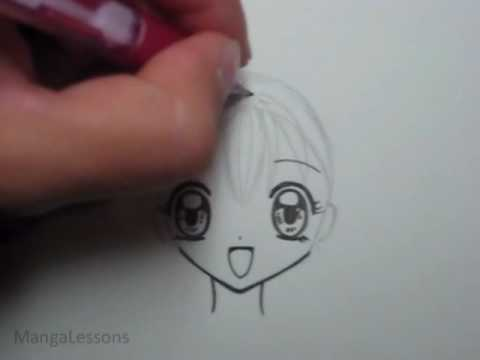 draw manga hair small pigtails
