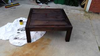 Table W/ Stain No Finish