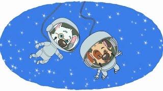 Развивающие мультики Раскраски для детей Белка и Стрелка Путешествие на Луну