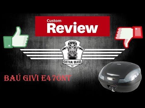 Custom Review - Baú Givi E470NT Fumê