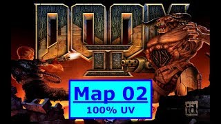 Doom II (1994) 100% Ultra-Violence MAP 02: Underhalls