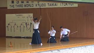 第3回 世界弓道大会 決勝 台湾 taiwan -The world kyudo taikai final match-