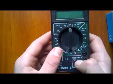 мультиметра DT-832