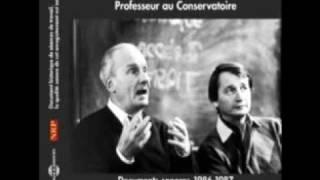 Michel Bouquet Professeur au Conservatoire : L