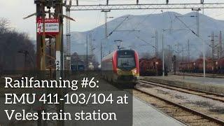 Railfanning #6 EMU 411-103/104 at Veles railway station, Macedonia