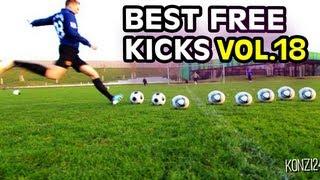 Best Free Kicks Montage | Vol.18 | +35m Knuckleballs, Top Spin & Dips | freekickerz