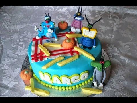 Torta Compleanno Oggy E I Maledetti Scarafaggi.Torta Oggy E I Maledetti Scarafaggi Ricetta Semplice E Veloce Youtube