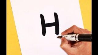 Çocuklar İçin Harf H (AŞÇI) çizilmiş Karikatür ŞEF