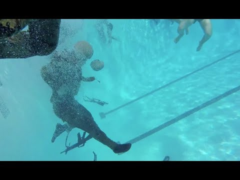 Japanese Forces conduct U.S. MARINE CORPS Water Survival Training