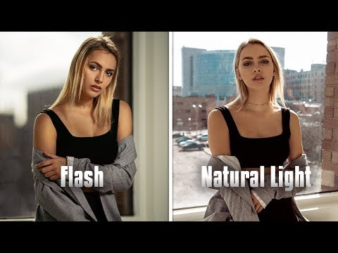 Natural light vs Off Camera Flash CHALLENGE ft. Jessica Kobeissi