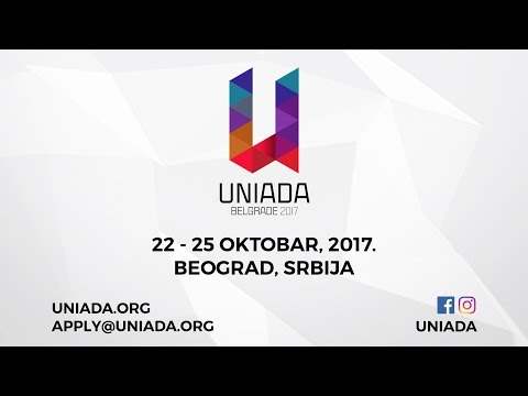UNIADA 2017 International Students Sport Competition - 22-25 October, Belgrade, Serbia (TEASER)