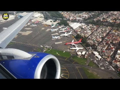 Interjet Sukhoi Superjet squeeky engines firing up the runway in Mexico City!!! [AirClips]