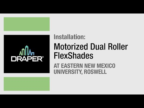 Installation: Eastern NM University, Roswell, NM - Motorized Dual Roller FlexShades by Draper, Inc.