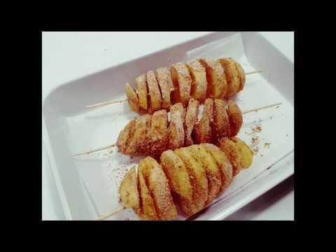 Картофени спирали - картофи, печени на клечка - Лакомница