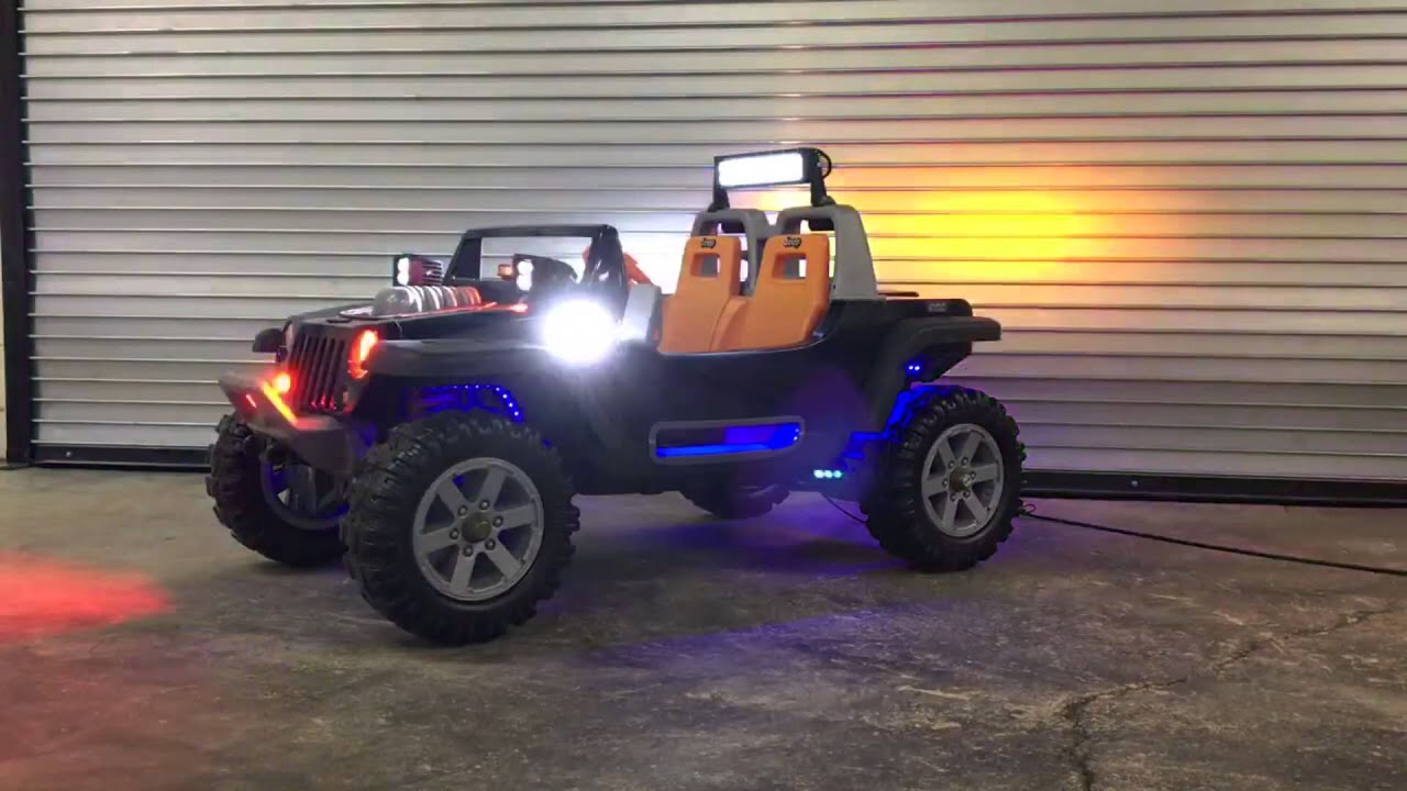 Jeep Hurricane Power Wheels With Warning Lights Youtube