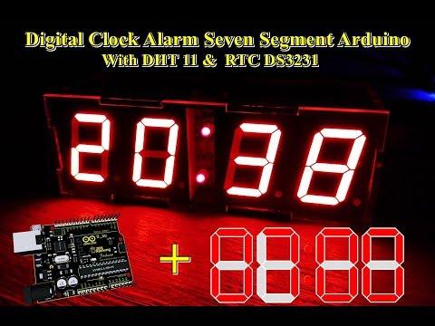 Digital Clock Alarm Seven Segment Arduino With DHT 11 & DS3231