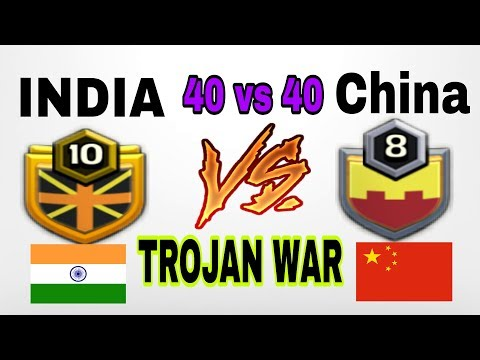 INDIA VS CHINA TROJAN WAR 40 VS 40 | PUSH TO LEGEND | ROAD TO 5000 SUBSCRIBERS