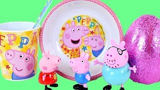 Peppa Pig Mealtime Chocolate Surprise Egg Toys Play Doh Food Peppa