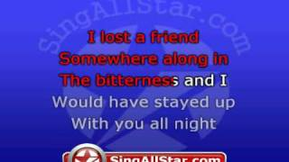 """How To Save A Life"" in the style of The Fray presented by All Star Karaoke"