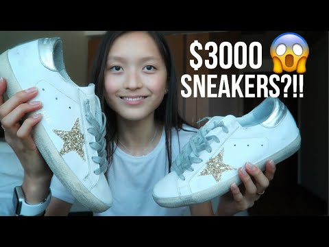 GOLDEN GOOSE (GGDB) Superstar sneakers unboxing + try on review // Cass Kinling