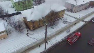 Мурманск. Мгновенная реакция пожарных расчетов