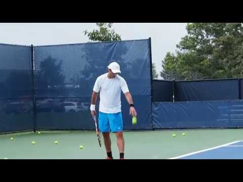 Wimbledon 2015 doubles winners Tecau/Rojer practice at W&S Open 2015