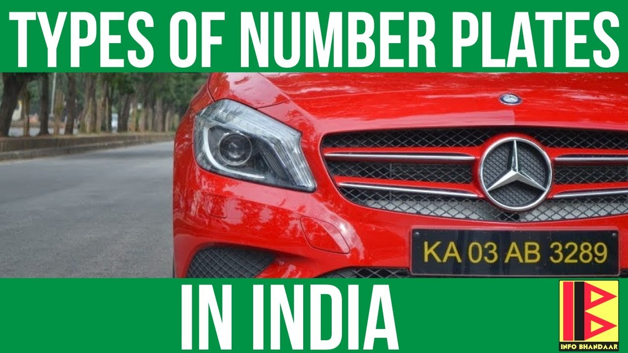 Types of Number Plates in India | Number Plate System in India - YouTube
