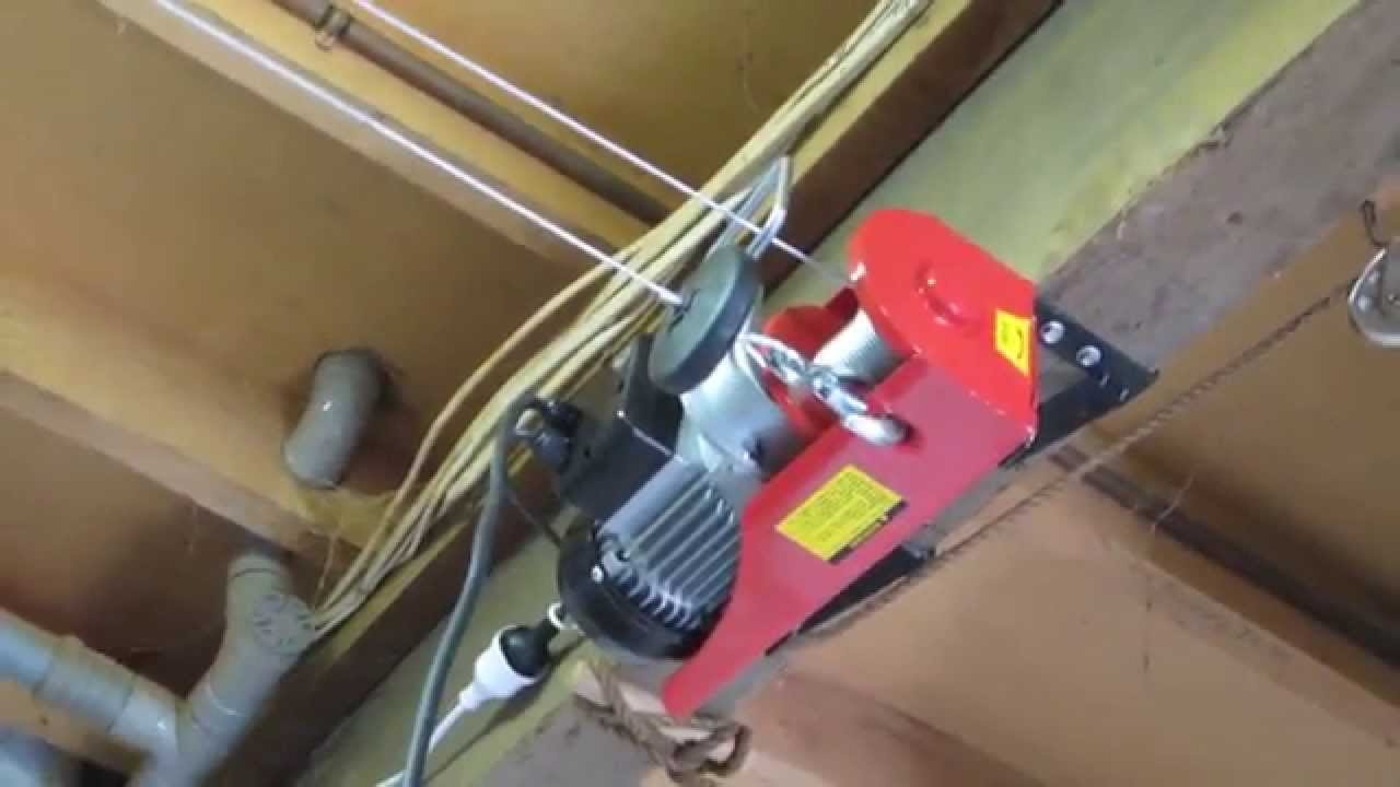 Electric Hoist 240v 100 200kg Youtube