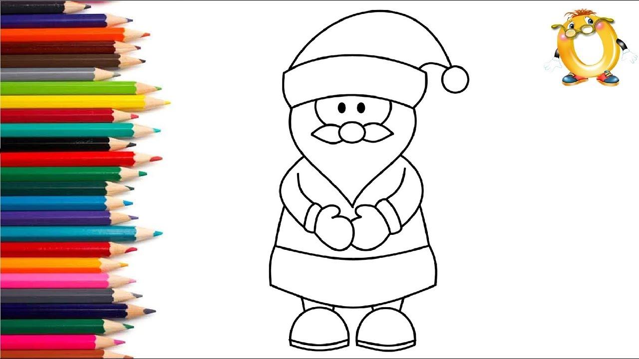 раскраска для детей дед мороз как нарисовать деда мороза учим цвета
