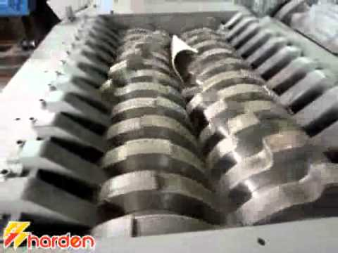 Industrial shredder  for solid waste size reduction from Harden Industries Ltd. in China.