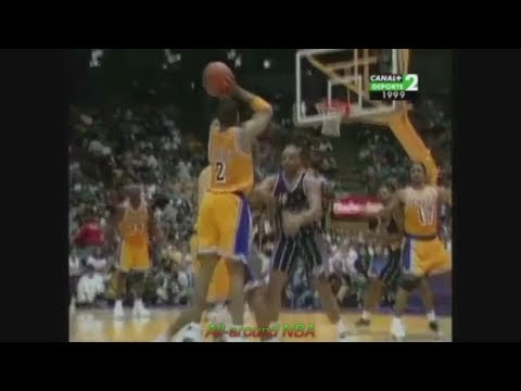 Derek Fisher 20 Points 6 Ast Vs. Rockets, 1999 Playoffs Game 1.
